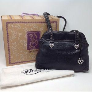 Brighton black leather shoulder bag